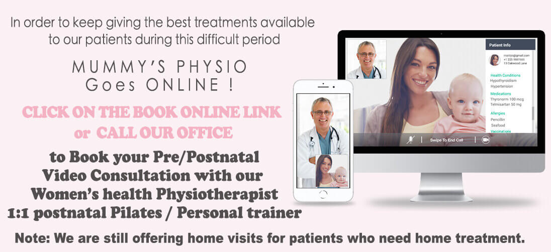 online women's health physio video consultation